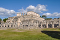 Temple of warriors in chichen itza mexico Royalty Free Stock Photos