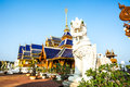 Temple wat ban den chiangmai province thailand in sunny day Stock Photography