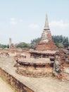 Temple wat mahathat in ayutthaya historical park thailand Stock Photo
