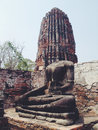 Temple wat mahathat in ayutthaya historical park thailand Stock Photos