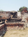 Temple wat mahathat in ayutthaya historical park thailand Royalty Free Stock Photos