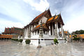 Temple wat suthat buddhist in bangkok Royalty Free Stock Photos