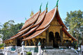 Temple at Wat Xieng Thong Royalty Free Stock Photo
