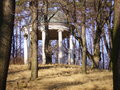 Temple in the wood a small is standing a forest Stock Images