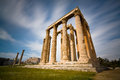 Temple of zeus athens in Stock Image