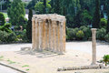 Temple of zeus athens greece Royalty Free Stock Image