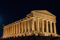 Temples in Agrigento night in Sicily - Italy Royalty Free Stock Photo