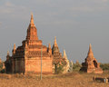 Temples of bagan formerly pagan is an ancient city located in the mandalay region burma myanmar from the th to th centuries the Stock Photo