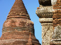 Temples in Bagan Myanmar (Burma) Royalty Free Stock Photo