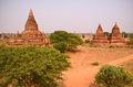 Temples in bagan myanmar sprawling of Royalty Free Stock Image
