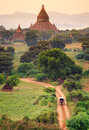 The temples of bagan at sunrise bagan myanmar pagan Royalty Free Stock Photography
