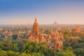 Temples of Bagan during sunrise, Myanmar Royalty Free Stock Photo