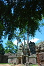 Temples of cambodia on a stunning bluebird day Royalty Free Stock Photography