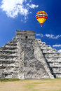 The temples of chichen itza temple in Mexico Royalty Free Stock Photography