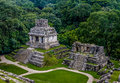 Temples of the Cross Group at mayan ruins of Palenque - Chiapas, Mexico Royalty Free Stock Photo
