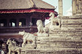 Temples of Durbar Square in Bhaktapur, Kathmandu, Nepal. Royalty Free Stock Photo