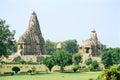 India Erotic Temples in Khajuraho Royalty Free Stock Photo