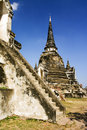 Temples and pagodas of ayutthaia in thailand Stock Image