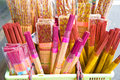 The temples sales of incense Royalty Free Stock Photo