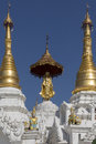Temples shwedagon pagoda complex city yangon myanmar burma Royalty Free Stock Photo