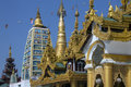 Temples shwedagon pagoda complex officially titled shwedagon zedi daw city yangon myanmar burma Royalty Free Stock Images