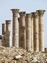 Templo de Artemis, Jerash Imágenes de archivo libres de regalías