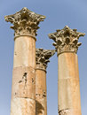 Templo de Artemis, Jerash Imagenes de archivo