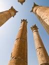 Templo de Artemis, Jerash Fotografia de Stock Royalty Free