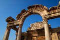 Templo de Hadrian, Ephesus, Turquia Imagem de Stock Royalty Free