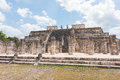 Templo de los Guerreros, Temple of the Warriors at Chichen Itza, Mexico Royalty Free Stock Photo
