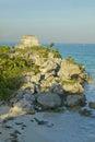 Templo del dios del viento mayan ruins of ruinas de tulum tulum ruins in quintana roo yucatan peninsula mexico the turquoise Royalty Free Stock Image