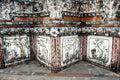 Templos feitos a mão de banguecoque fotos do bordado do close up Imagens de Stock