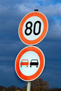 Tempo 80 on a country road Royalty Free Stock Image