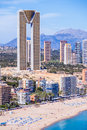 In tempo building in benidorm architecture with the tallest spain with characteristic structure Royalty Free Stock Photos