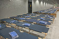 Temporary beds Royalty Free Stock Photo
