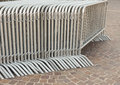 Temporary fence metal fences for concerts and events Royalty Free Stock Photo