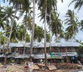 Temporary houses for worker near construction site at koh samui thailand Royalty Free Stock Photos