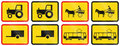 Temporary road sign used in the African country of Botswana Royalty Free Stock Photo