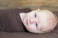 Temporary strabismus newborn Royalty Free Stock Photo
