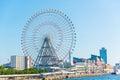 Tempozan Ferris wheel and Osaka Aquarium Royalty Free Stock Photo