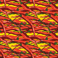 Temptation hot chili red seamless pattern
