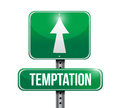temptation street sign illustration design