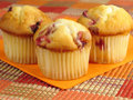 Tempting Cranberry Orange Muffins Stock Photos