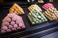 Tempting desserts in paris france photo of french Royalty Free Stock Photography