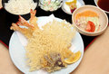 Tempura Meal Set Royalty Free Stock Photos