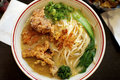 Tempura ramen large bowl of soup with in it a typical japanese dish Stock Photo