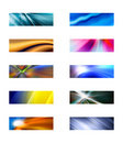 Ten abstract rectangular backgrounds