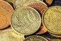 Ten cent euro coin Royalty Free Stock Photo
