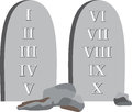 Ten commandments god has given through his prophets to help you live a happy life Royalty Free Stock Photo