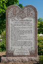The ten commandments on grounds of missouri state capitol in jefferson city missouri Royalty Free Stock Photography